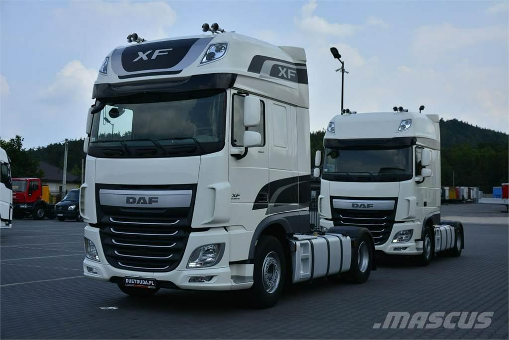used daf xf 106 460 euro 6 automat standard super space tractor units year 2015 price 48 877. Black Bedroom Furniture Sets. Home Design Ideas