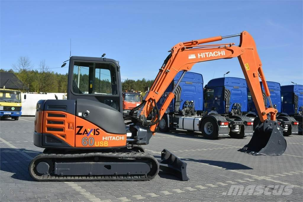 Hitachi Minikoparka ZX60USB 2012r 6-ton Cat 305 Case JCB