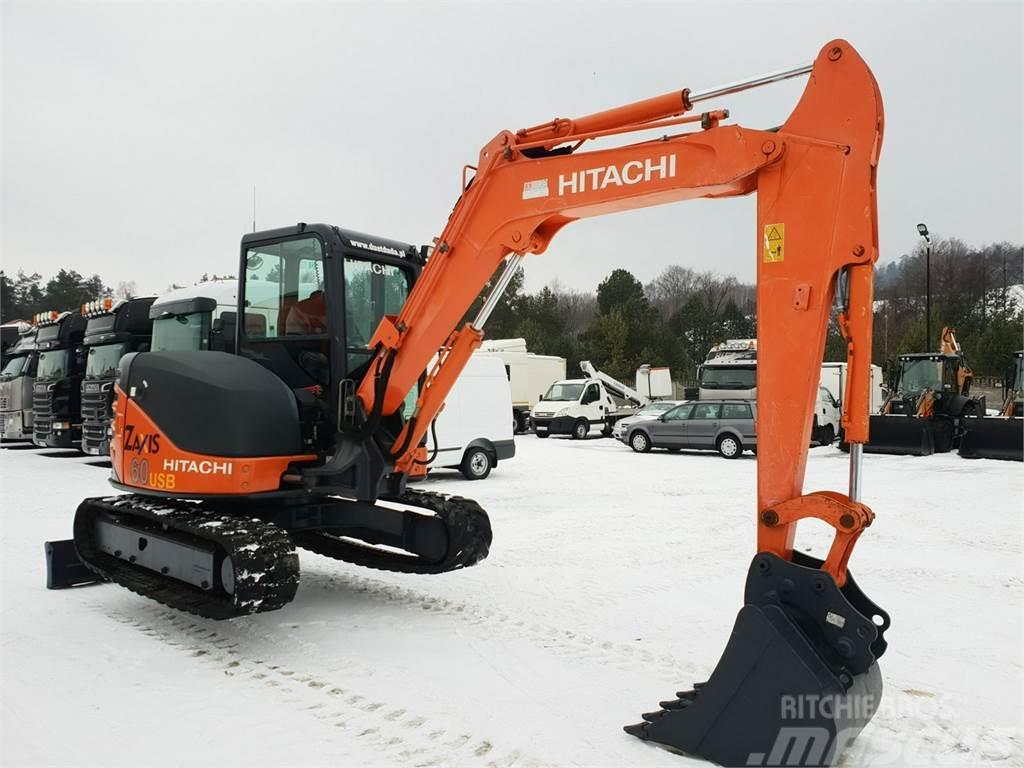 Hitachi Minikoparka ZX60USB 2012r 6-ton Cat 305 Case JCB