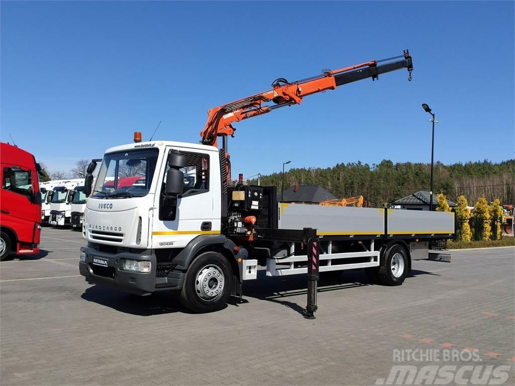 Iveco Eurocargo 180E25 Skrzyniowy długosć -7.32m + HDS -