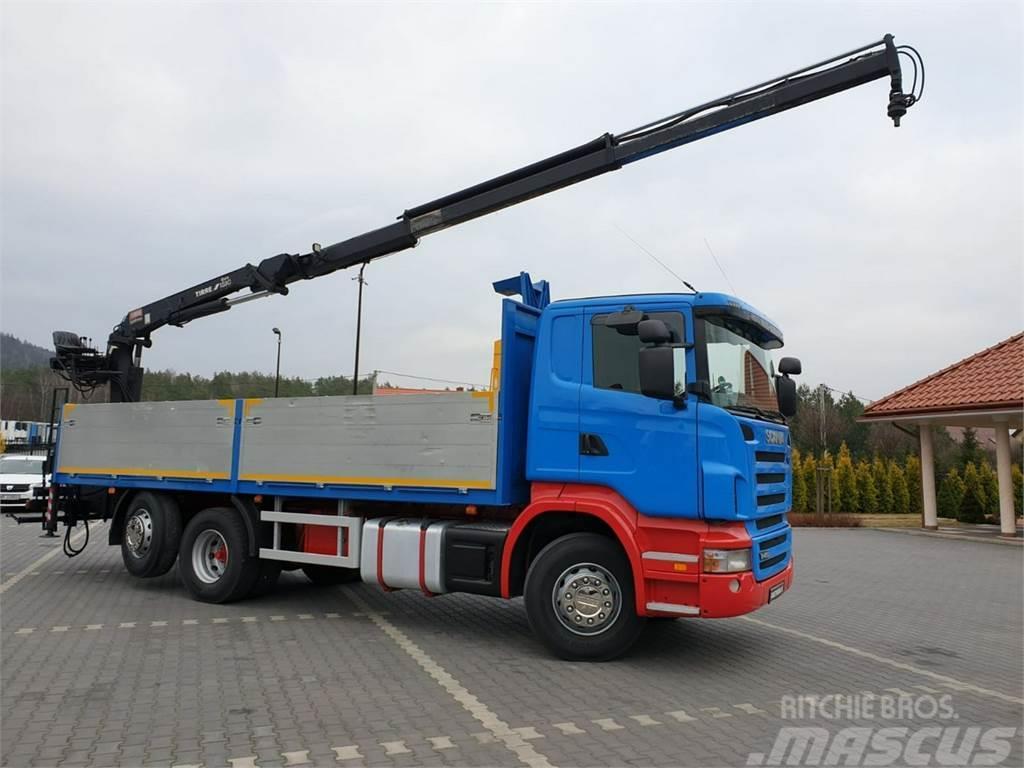 Scania R 400 LB 6x2 HDS Budowlanka Widły Oś Skrętna Super