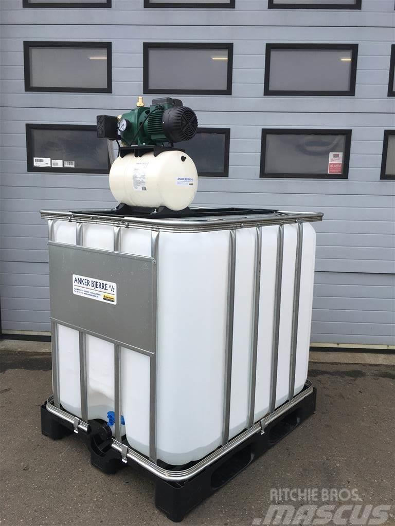 AB Mobilt vandværk 220V 1000 ltr. med integreret pump