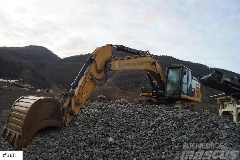 Caterpillar 324 EL Excavator prepared for rotor tilt. WATCH VI