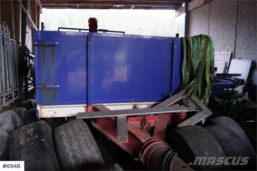 Damm 2 DB 20 2 Axle trailer with about 10 m pull-out. A