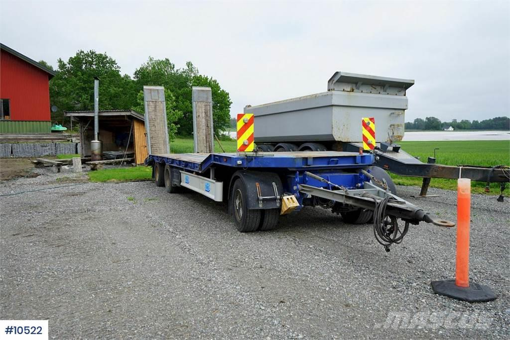 Damm 3 aks machine trailer with ramps and widening. Ste