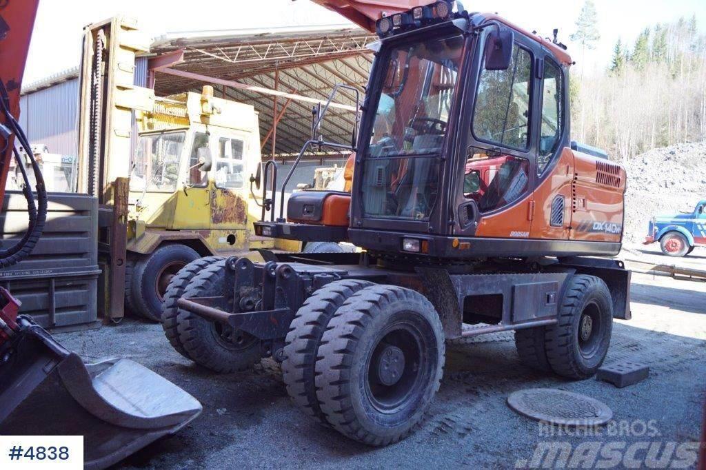 Doosan DX140W hjulmaskin m/Indexator RT60