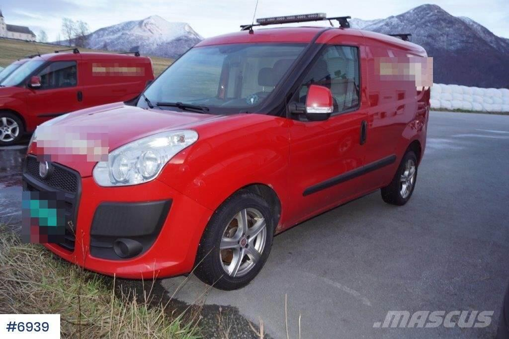 Fiat Doblo Van with two sets of tires and roto beam