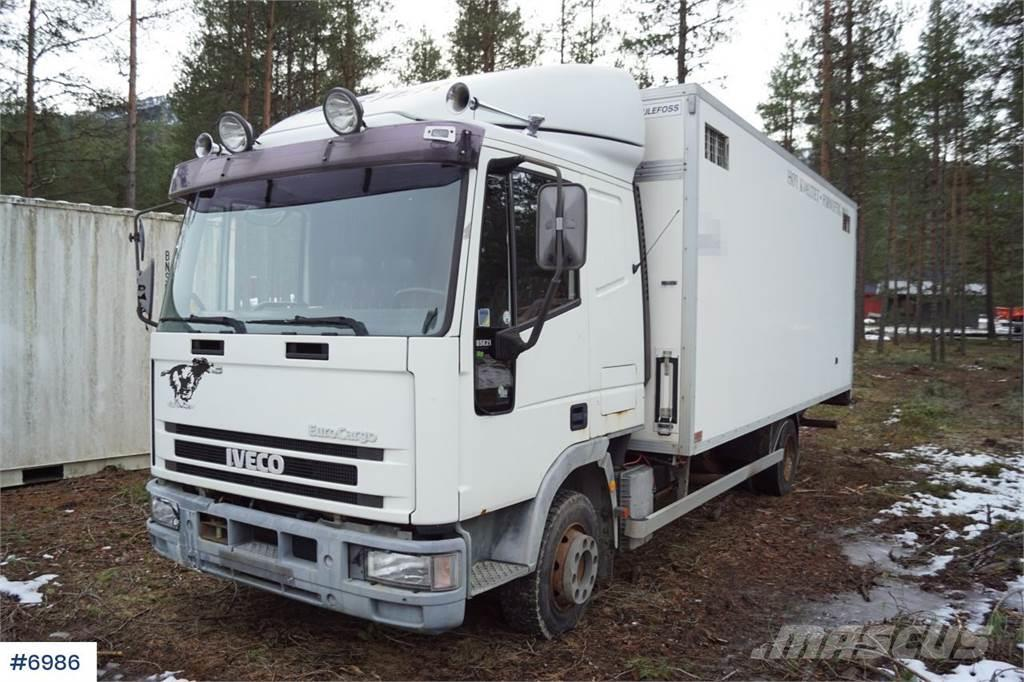 Iveco 85E21 Horse truck with partition and winch.