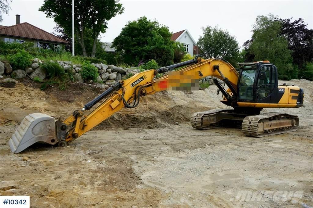 JCB JS240LC Excavator with hammer hydr and central gre