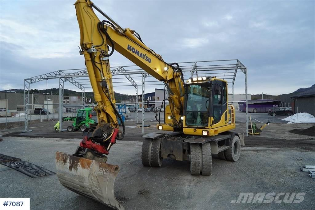 Komatsu PW148-8 w / rotor tilt and 2 buckets WATCH VIDEO