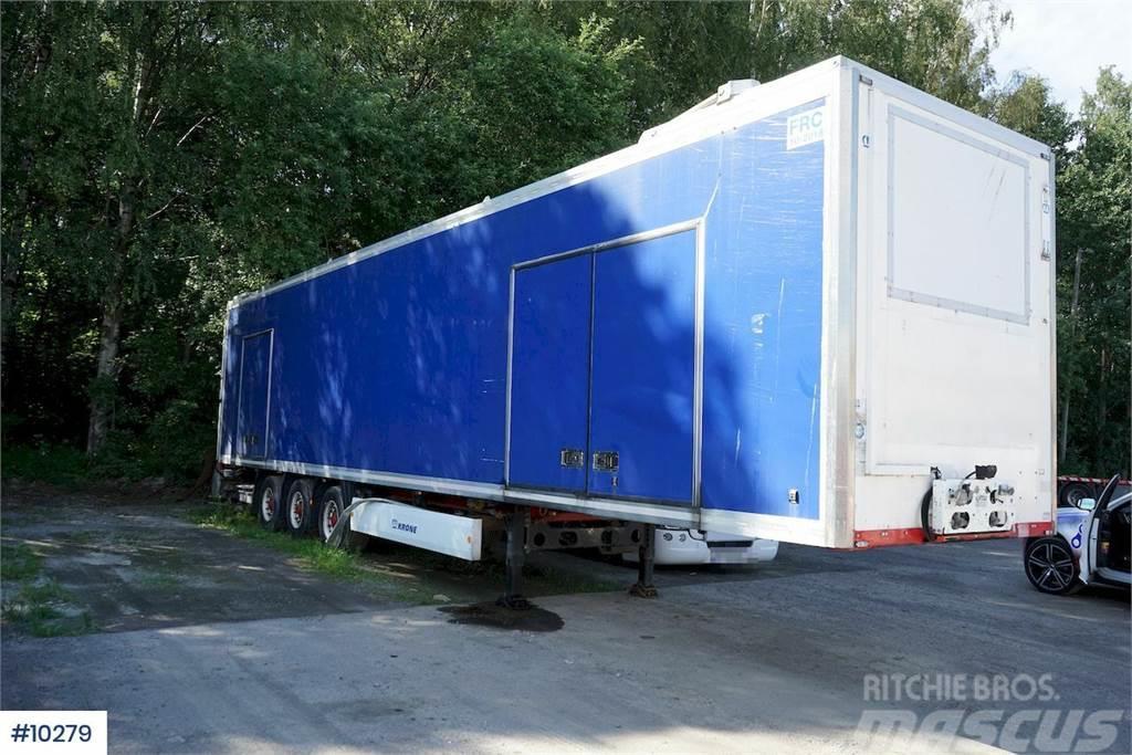 Krone closed car transport trailer