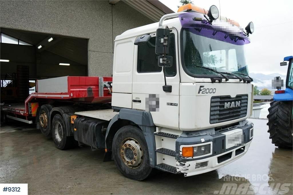 MAN F26.414 6x2 truck. See km! WATCH VIDEO