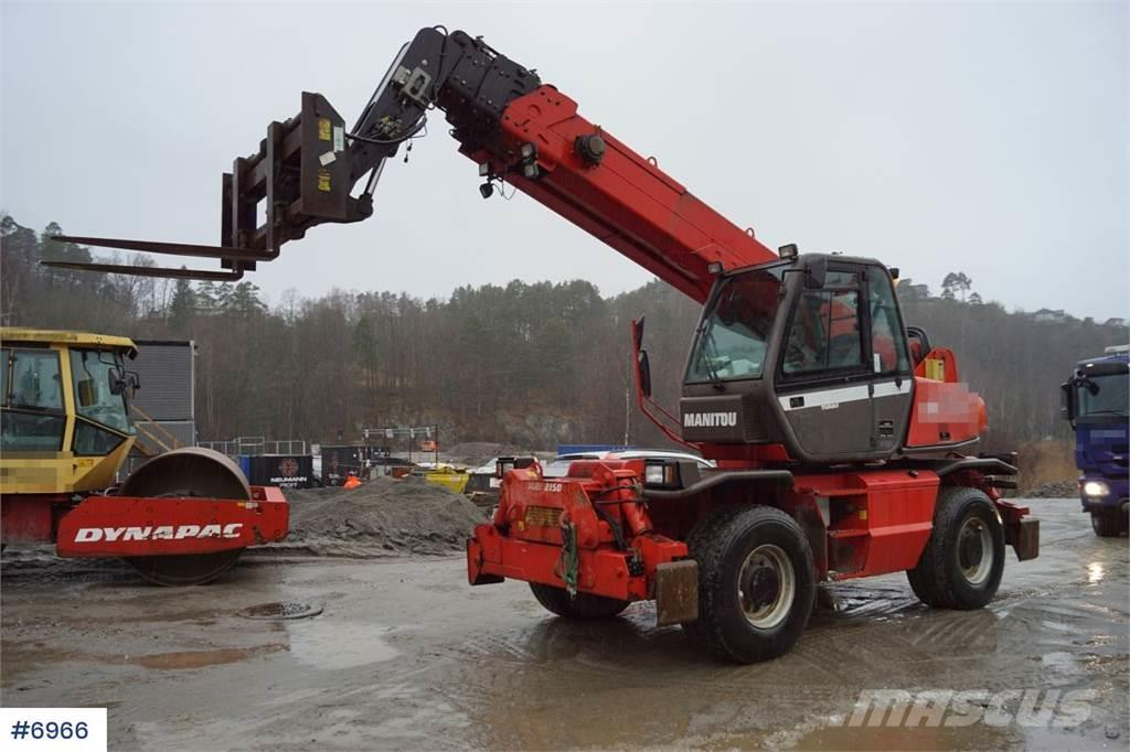 Manitou MRT 2150 Rotary truck with lots of equipment and f