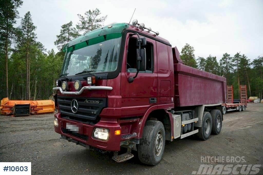 Mercedes-Benz Actros 6x4 Tipper truck. Steel suspension.