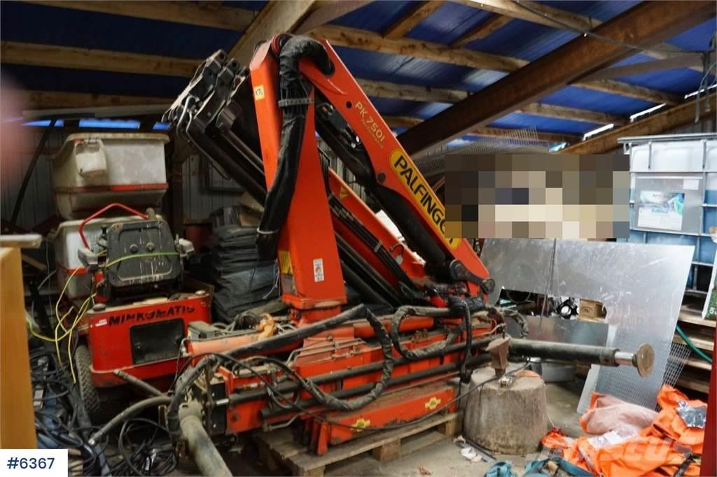 Palfinger PK7501 Crane with remote control and personal bask