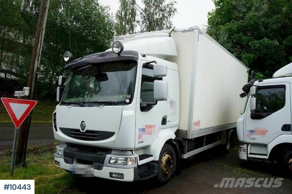Renault Midlum Box truck w/ lift and heater in the box