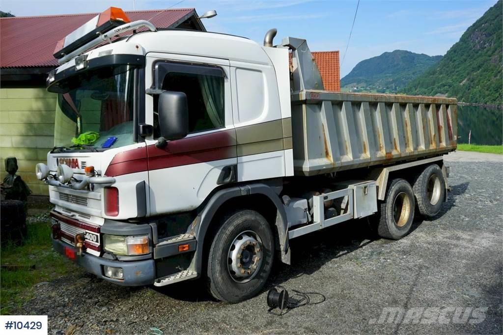 Scania 124.400 6x2 Tipper truck with low km. Rep object W