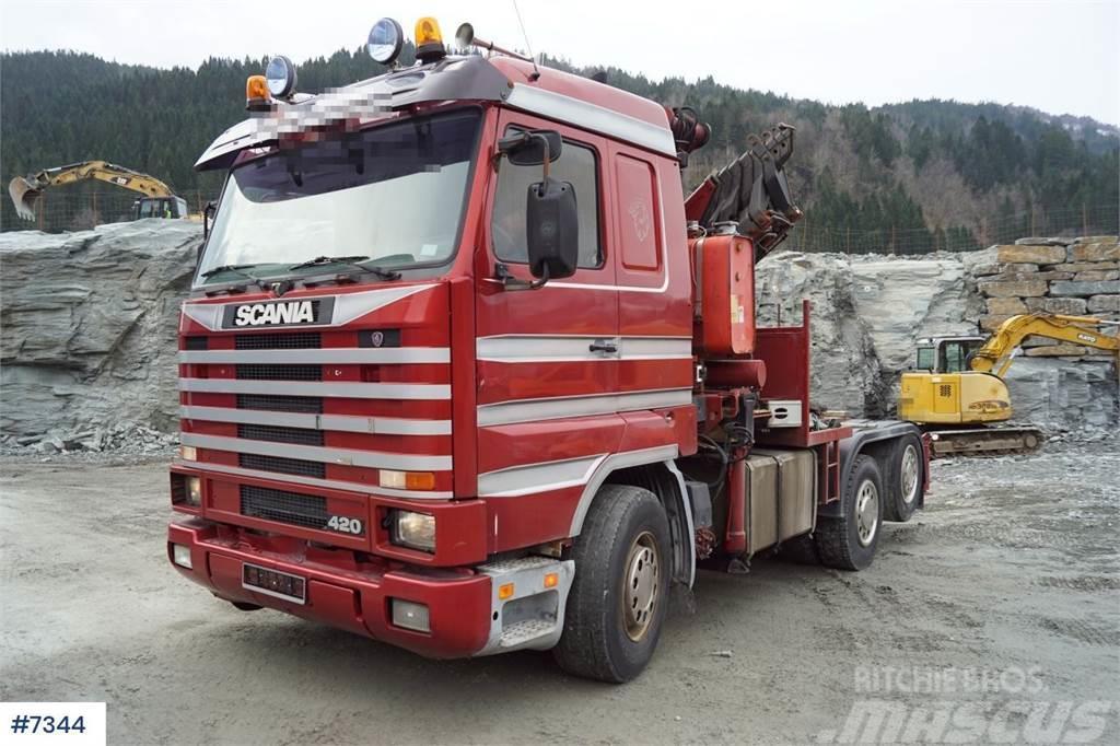 Scania 143 420 6x2 Streamline Truck w/ Fassi 42 t / m cra