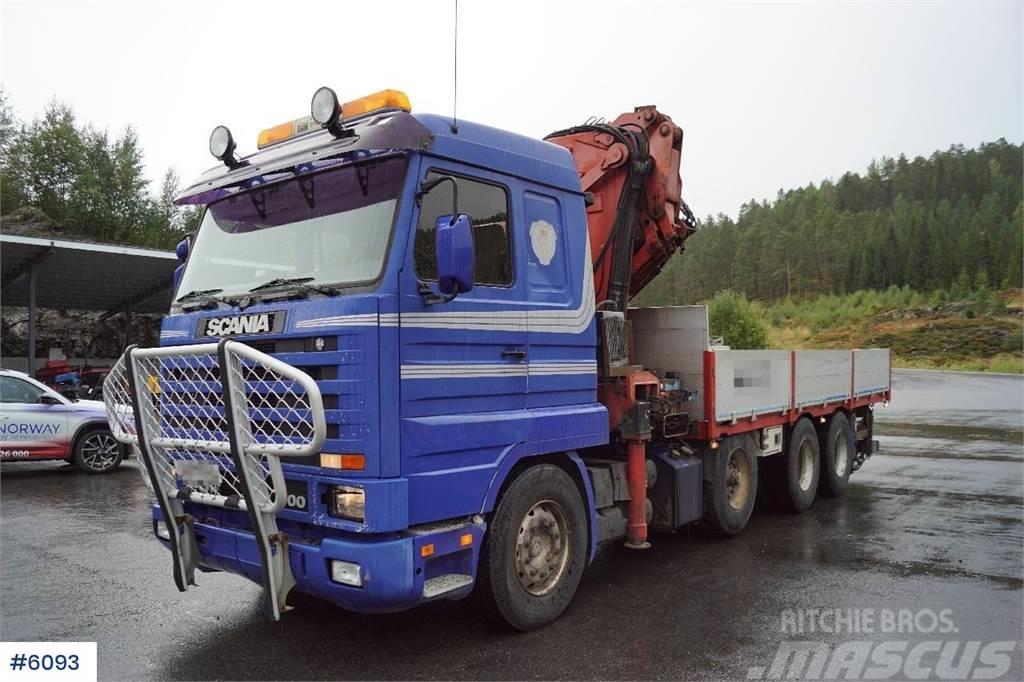 Scania 143 Streamline 8x4 crane truck with Ferrari F940A4