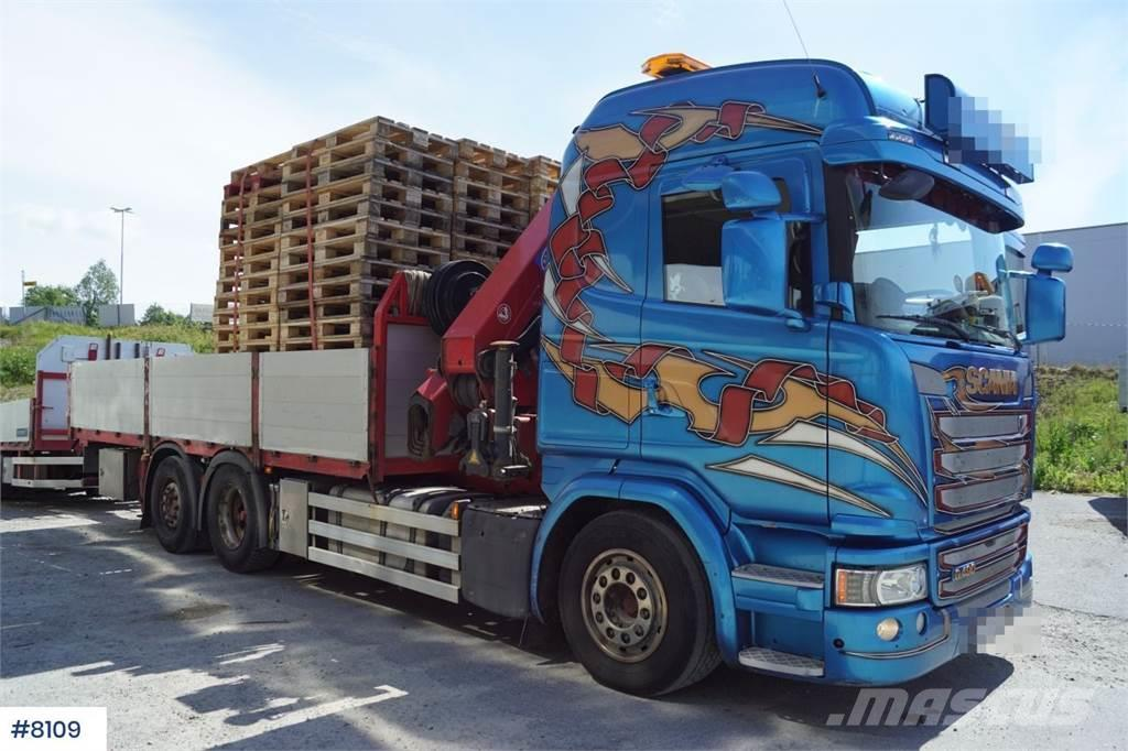 Scania G490 6x2 Crane truck with HMF 3220-K7 Crane WATCH