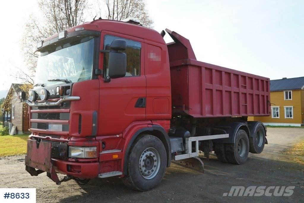 Scania R144 snow rigged combination truck with plow and p