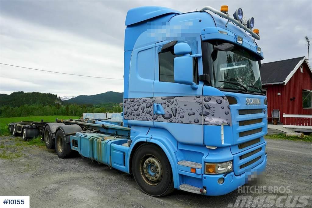 Scania R500 hook lift w / Nor Slep hook trailer