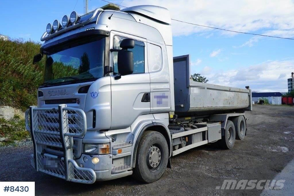 Scania R500 snowrigged hook truck with box