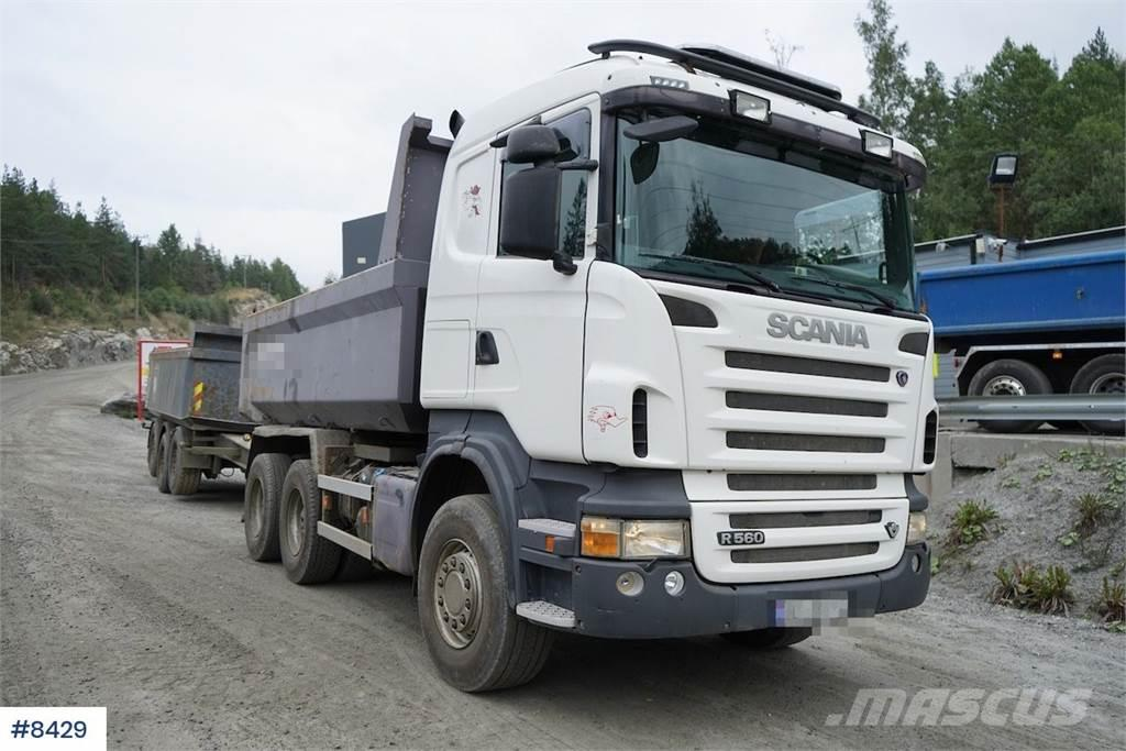 Scania R560 6x4 tipper truck with manual