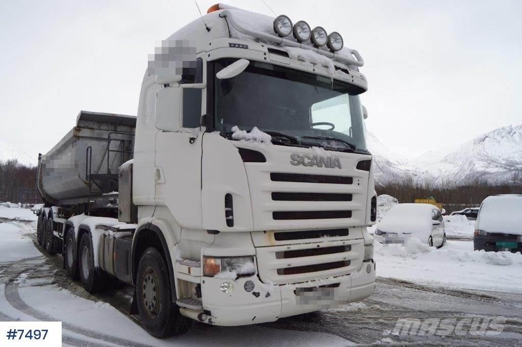 Scania R580 6x4 tandem with hydr.