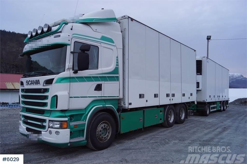 Scania R620 6x4 box truck with trailer (fridge-freezer se