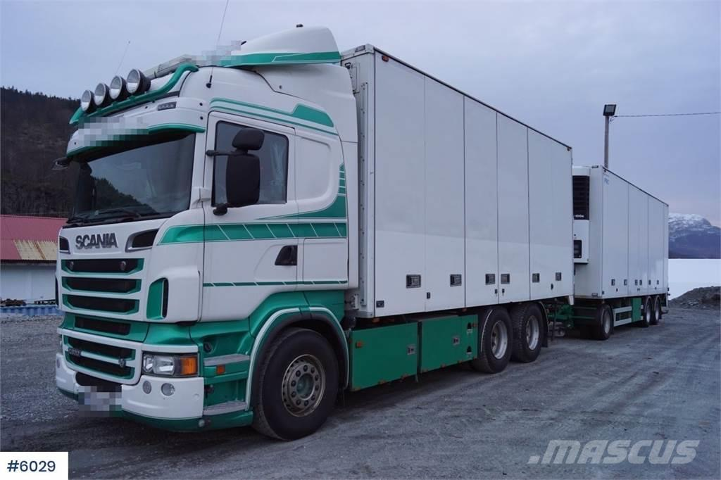 Scania R620 6x4 box truck with trailer (fridge-freezer se