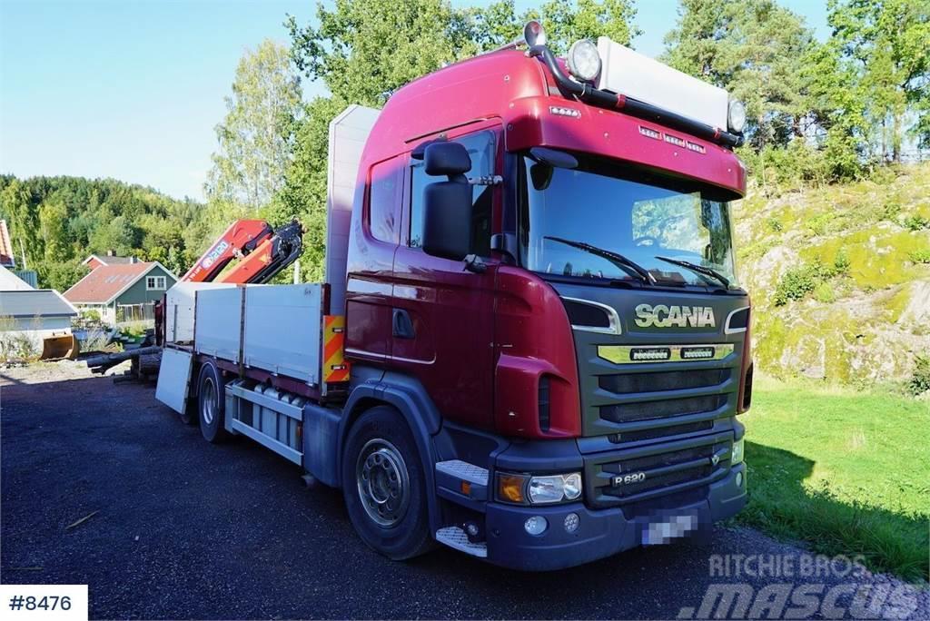 Scania R620 6x4 w / 21 t/m HMF crane from 2016