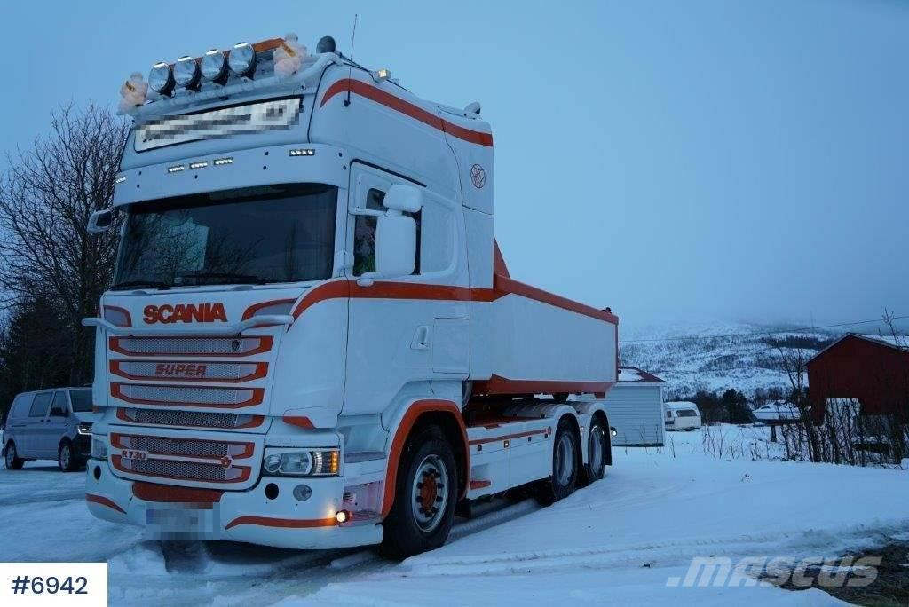 Scania R730 tipper truck