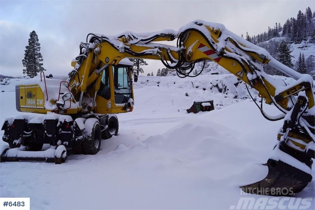 Terex 1404 KZ rail machine with rotor tilt