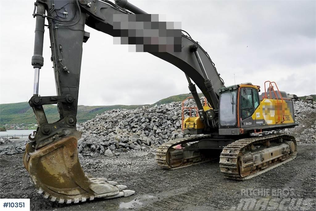 Volvo EC750EL excavator w/ newest type of Trimble GPS.