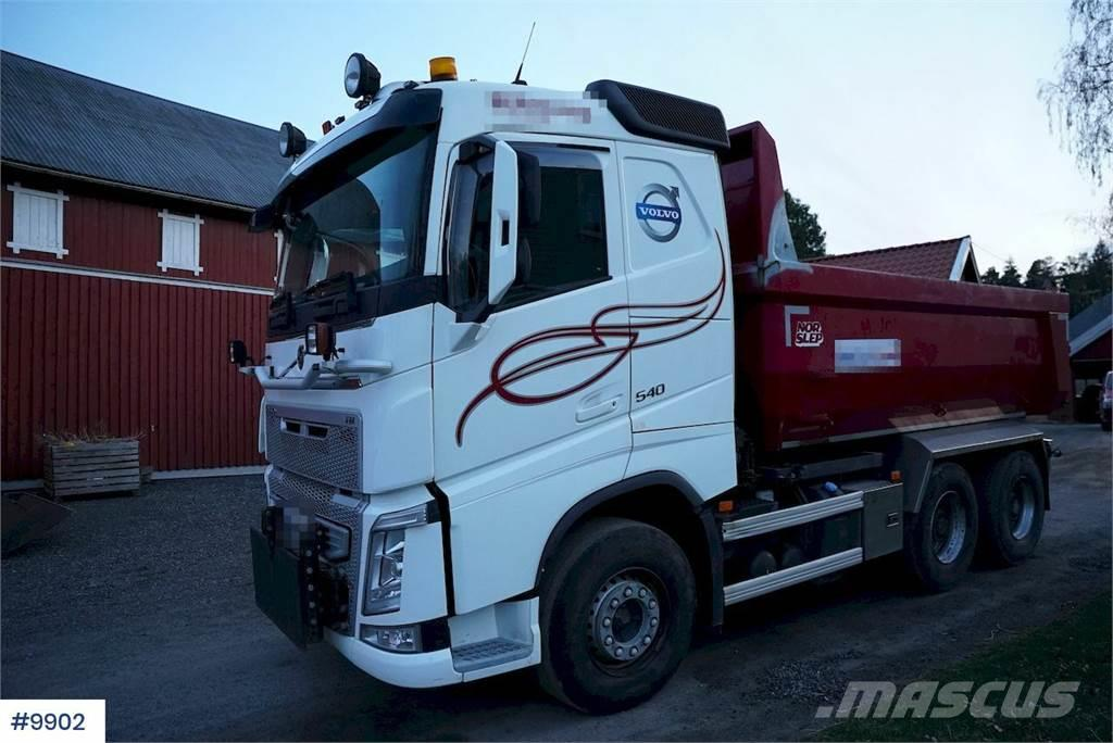 Volvo FH540 6x4 tipper truck snow rigged