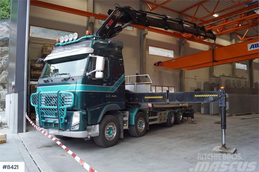 Volvo FH540 8x2 Crane truck with Hiab 855 E-8 Hipro Cran