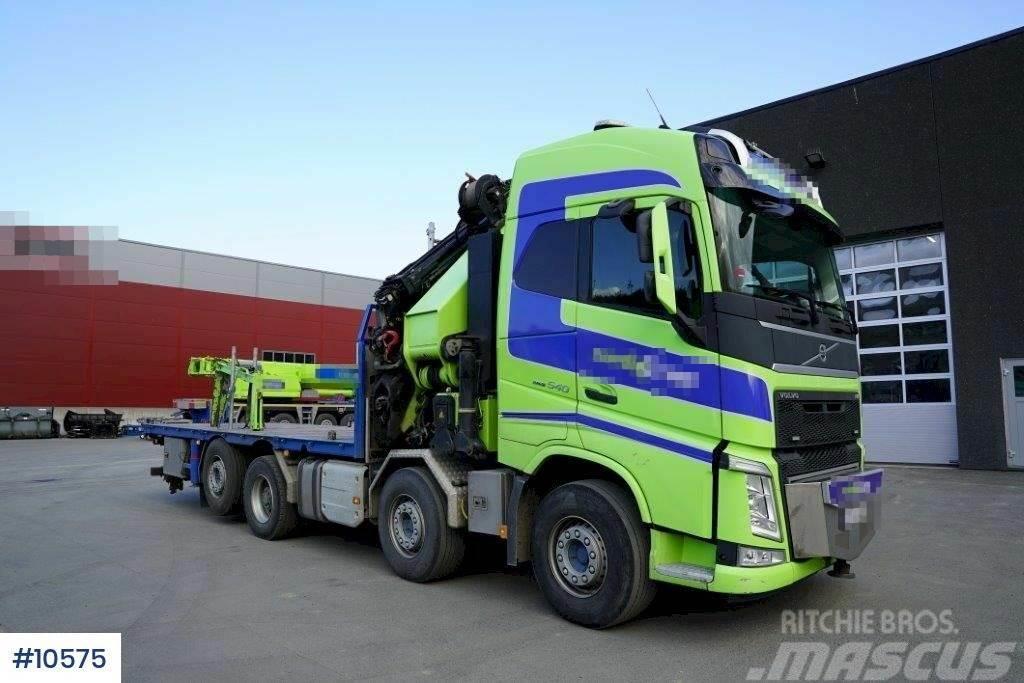 Volvo FH540 Crane truck with 85 t/m HMF crane from 2014,