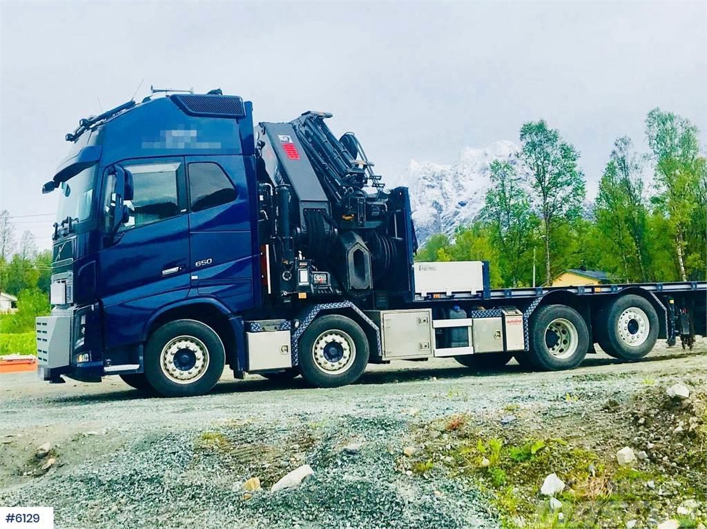 Volvo FH650 8x2 crane truck w/Hiab XS 1058