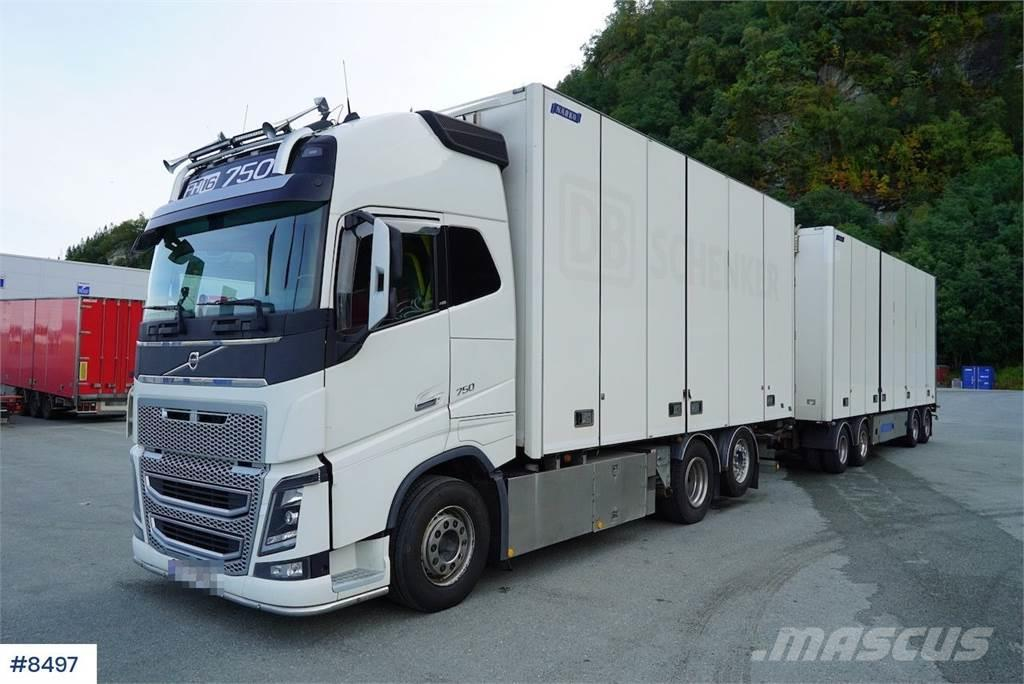 Volvo FH750 box truck w/ Narko 4-aks trailer WATCH VIDEO