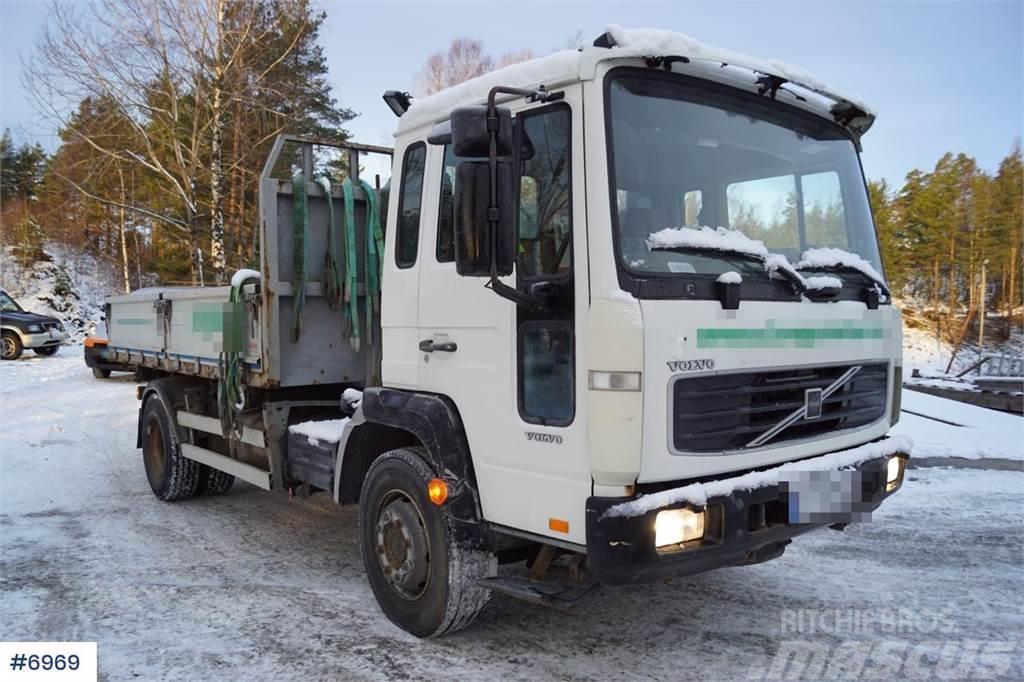 Volvo FL6 4x2 Crane truck with 3-way tip.