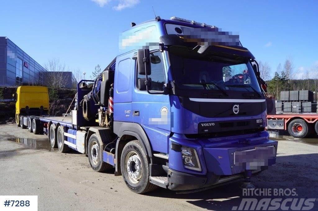 Volvo FMX 540 8x4 flatbed w / Fassi99 T / M + J + V