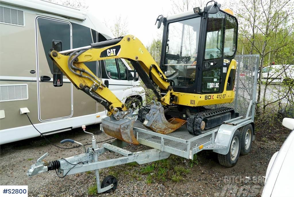 Caterpillar 301.8C Mini Excavator with trailer