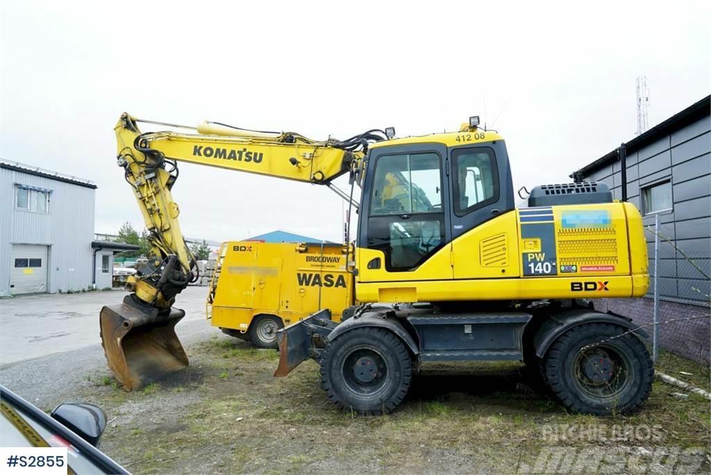 Komatsu PW140 Wheeled Excavator with machine control