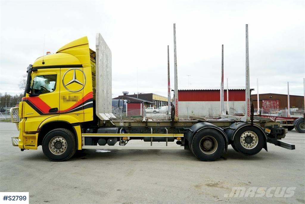 Mercedes-Benz 963 Timber Truck with LEFAB V4100 5 axle Timber Tr