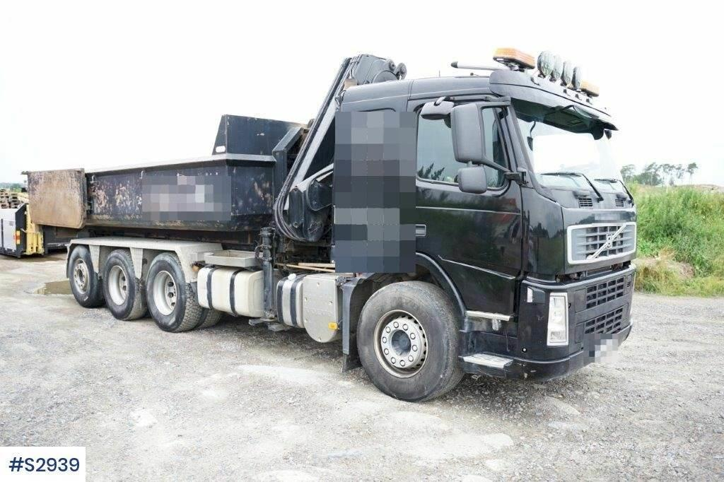 Volvo FM 6x4 Hook truck with Crane & Tipp