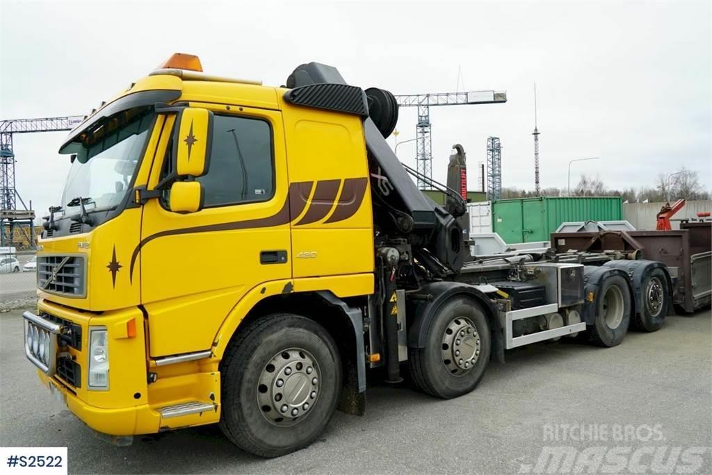 Volvo FM12 8x2 Crane Truck with HIAB Crane