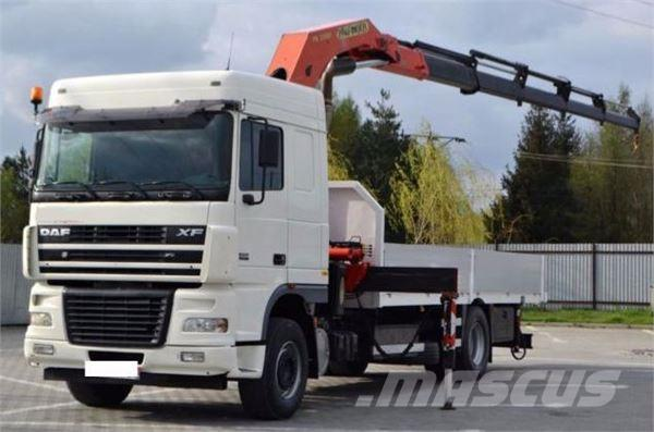 used camion grua daf xf 95 430 crane trucks year 2006 for sale mascus usa. Black Bedroom Furniture Sets. Home Design Ideas