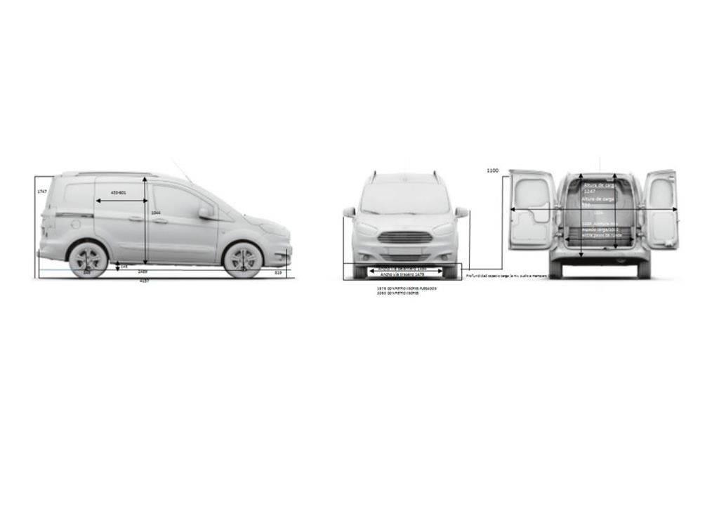 used ford courier transit kombi trend 1 5 tdci 70kw 95cv. Black Bedroom Furniture Sets. Home Design Ideas