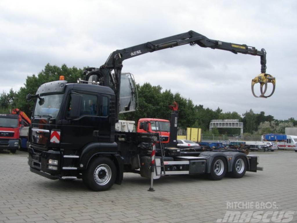 MAN TG-S 26.400 6x4 Hydr. Kabine Abrollkipper mit Kran